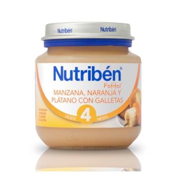 NUTRIBEN MANZANA NARANJA PLATANO Y GALLETA POTITO INICIO 130 G