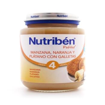 NUTRIBEN POTITO MANZANAR NARANJA Y PLATANO CON GALLETAS 190 GR